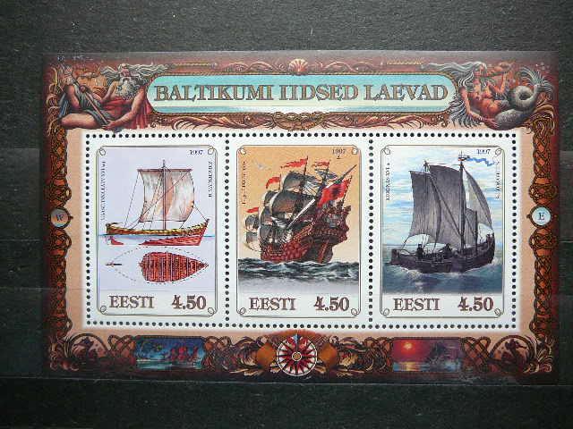 Estija 1997 Burlaiviai MNH