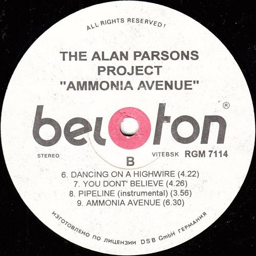The Alan Parsons Project - Ammonia Avenue