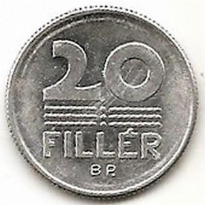Vengrija. 20 filerių ( 1974 ) AU