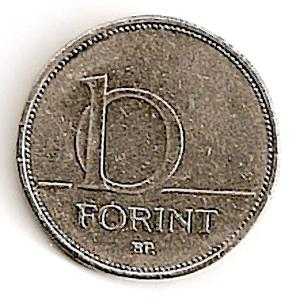 Vengrija. 10 forintų ( 2003 ) XF