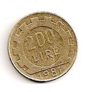 Italija. 200 lyrų ( 1998 ) VF