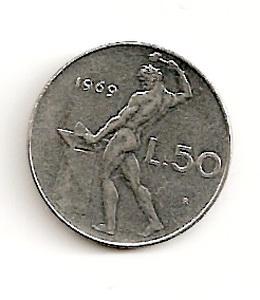 Italija. 50 lyrų ( 1981 ) XF