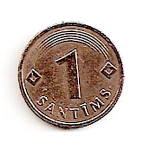 Latvija. 1 santimas ( 2005 ) XF