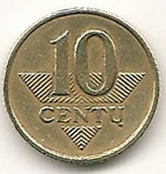Lietuva. 10 centų ( 1997 ) VF