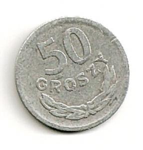 Lenkija. 50 grašių ( 1957 ) VF