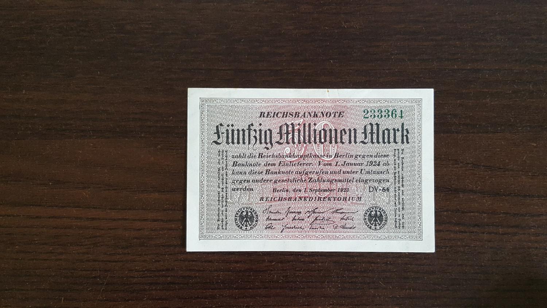 Funfzig Millionen Mark 1923