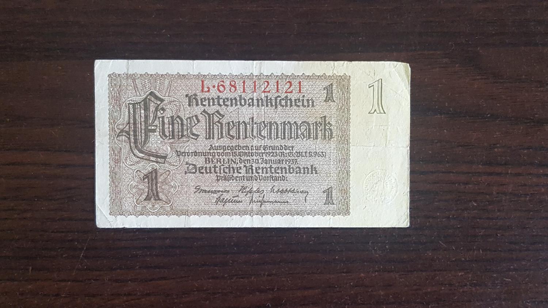 Eine Rentenmark 1937
