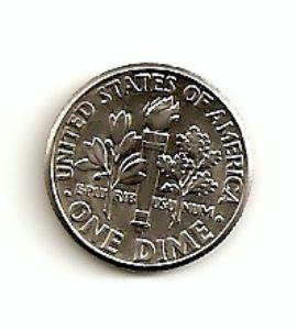 JAV. 1/10 dolerio ( daimas ) ( 1968 ) XF