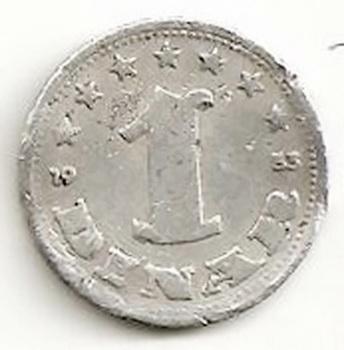 Jugoslavija. 1 dinaras ( 1953 ) XF
