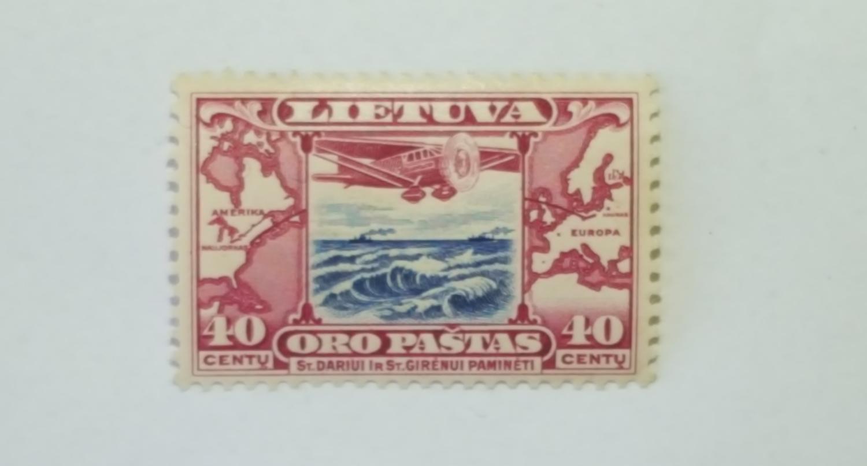 Dariaus ir Girėno transatlantinio skrydžio laida 40ct pašto ženklas