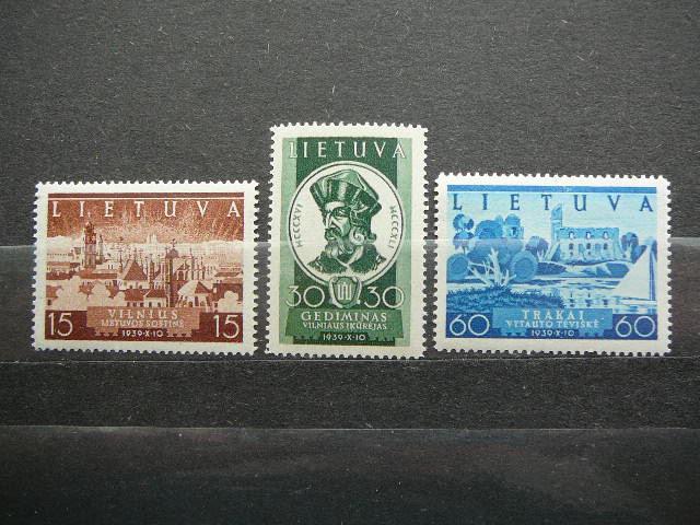 Lietuva 1940 443/5 Vilniaus atgavimas svarus MNH
