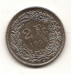 Šveicarija. 2 frankai ( 2003)