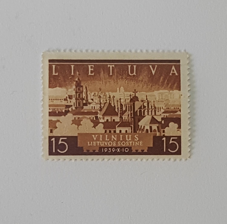 Vilniaus atgimimo pašto ženklas 1940m