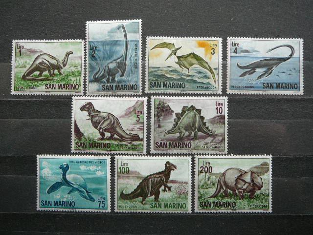 San Marinas 1965 Dinozaurai svarus MNH