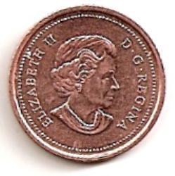 Kanada. 1 centas ( 2004 ) XF