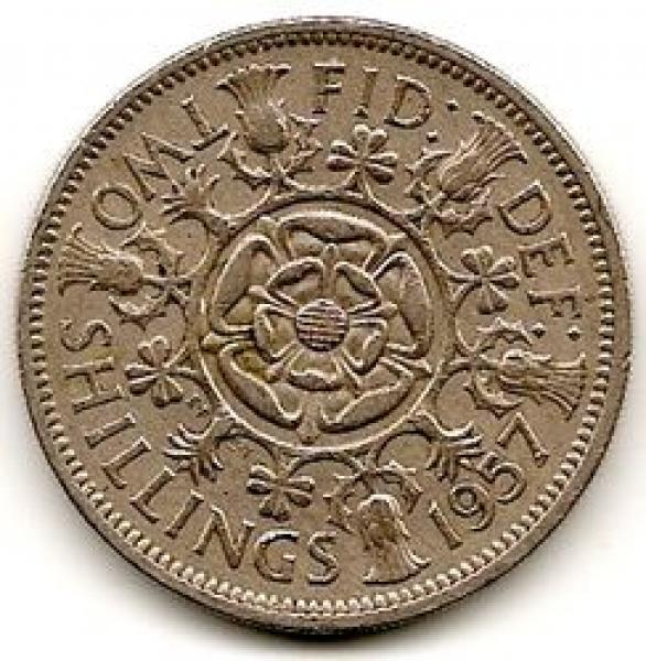 Anglija. 2 šilingai ( florinas ) ( 1962 ) XF-