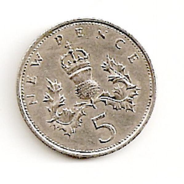 Anglija. 5 naujieji pensai ( 1970 ) XF