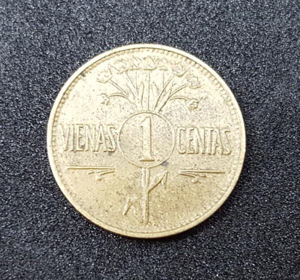 Labai gražus 1925 metų Vienas Centas