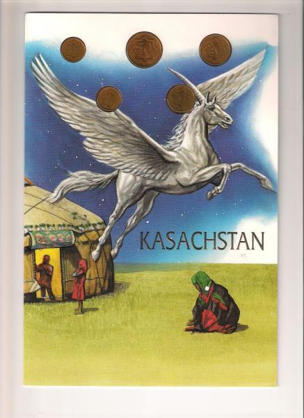 Kazachstano monetų rinkinys.