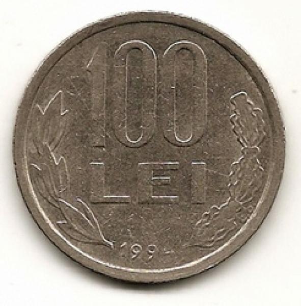 Rumunija. 100 lėjų ( 1994 ) XF