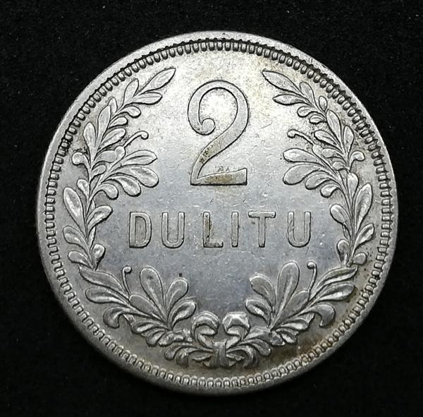 1925 Tarpukario 2 litų sidabrinė moneta