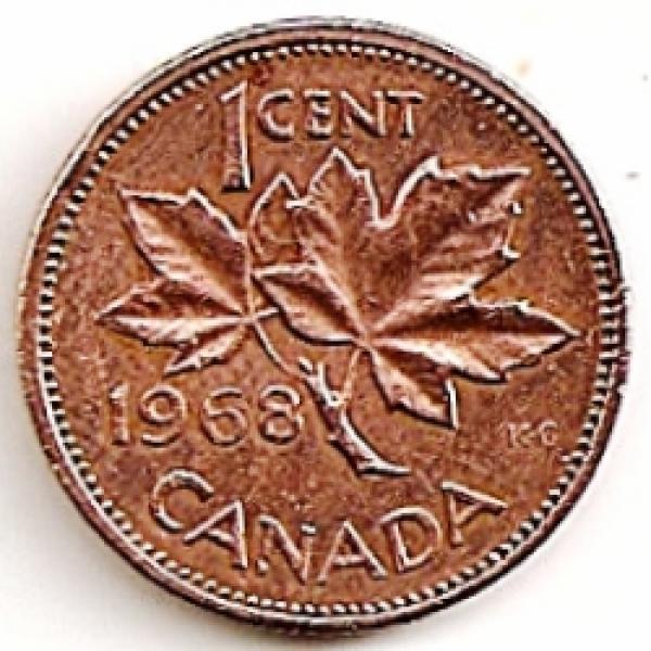Kanada. 1 centas ( 1972 ) XF