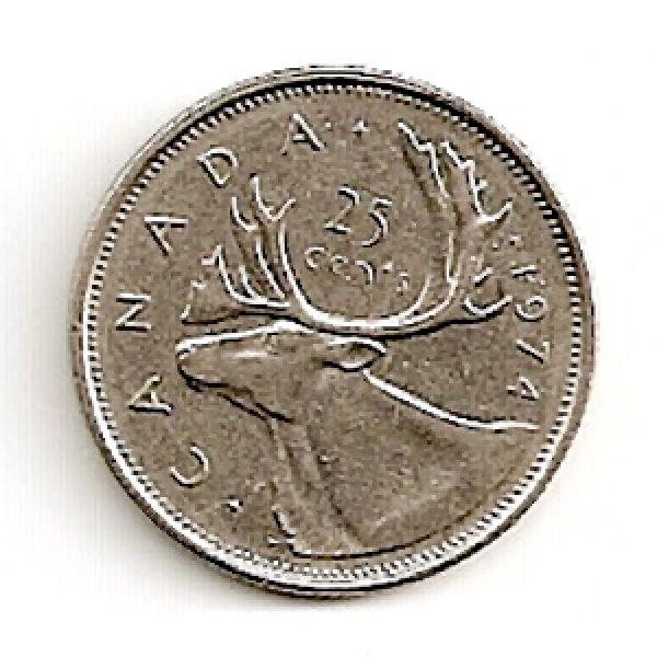 Kanada. 25 centai ( 1974 ) XF