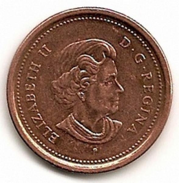 Kanada. 1 centas ( 2005 ) XF
