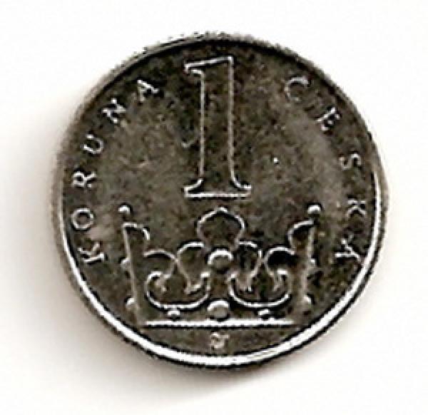 Čekija. 1 krona ( 2003 ) XF